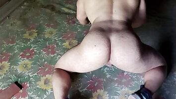 Gray Daddy Bear Fucks Krissy-Boy's tight Muscle  Pussy