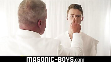 Gorgeous gay teen dick worship and hot twink ass creampie MASONIC-BOYS.COM